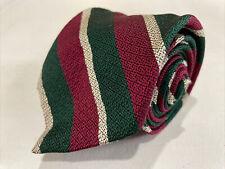 Polo Ralph Lauren Men's Red Green Stripe Silk Neck Tie $75