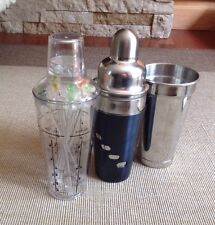 Lot of 3  2Bar Martini Shakers 1 Mixing Cup