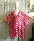 Vitamin A Magenta and Light Pink Silk Tunic Beach Cover Up Size Small NWT