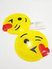 "Bpa Free Ice Packs Emoji Heart Kisses Smiley Face Set Of 2 Mainstays 5"" Long"
