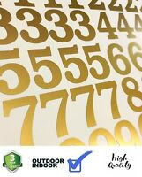 Lot of 40 Metallic Gold Color,Mailbox Numbers Decal, Stickers,[BOOKMAN BOLD]