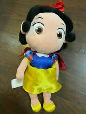 """The Disney Store Plush Princess Young Girl Snow White Toddler Baby Doll Toy 12"""""""