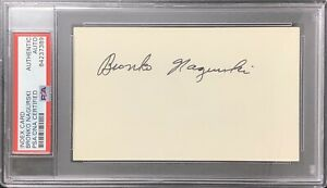 Bronko Nagurski Signed Index Card Football HOF Autograph Chicago Bears PSA/DNA