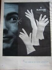 1959 Vintage KAYSER White Gloves Owe Your Audience Ad