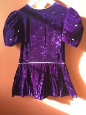 Dress Christian Dior Jeunesse girls royal purple velvet 5Y Saks Fifth Ave