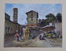 Romanesque tower cityscape by Carlo Montesi