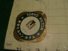 Vintage Original Luggage TIE ON -- TOKYO HILTON, tel (581)4511 used, room 439