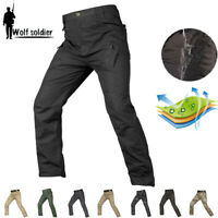 Mens Military Pants Army Tactical Combat Cargo Pants Casual Trousers Hiking IX9