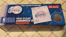 Los Angeles Clippers 50 Sandwich Bags Press to Close Make Everyday a Slam Dunk!