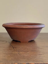 "Brown Unglazed High Quality Round Japanese Bonsai Tree Pot 5.75""x2.25"""
