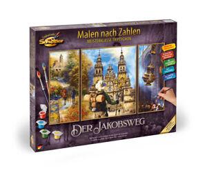 Schipper 609260854 - Malen Nach Zahlen - Der Jakobsweg (Tripty) - Neu