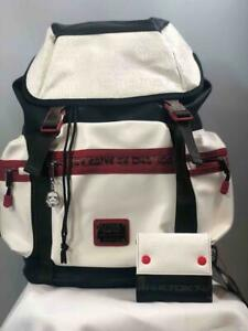 NWT LOUNGEFLY X STAR WARS White Trooper Leather Debossed Backpack w. Wallet