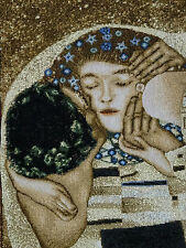 Wandteppich Gobelin Italy Gustav Klimt L´Albero KISS PARTIAL GLITZER 66x52 cm