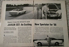 1968 AMC Javelin car article featuring Parnelli Jones