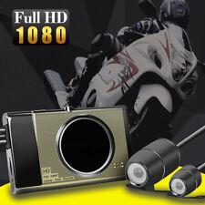 "3"" Motorcycle Motorbike 1080P Dual Camera Action Video Dash Cam Recorder DVR"