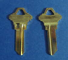 LOT OF TWO LOCKSMITH SC1 KEY BLANKS FITS SCHLAGE SOLID BRASS  MADE IN USA