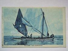 RICCIONE vele animata barca vela sailing boat Rimini vecchia cartolina