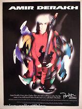 Amir Derakh, Orgy for Parker Guitars PRINT AD - 2000 ~~ guitar