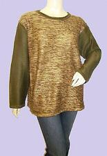 NEW BLUE FOX HONEY-GOLD Colour Block Jumper FREE SIZE Fits 16-18-20-22