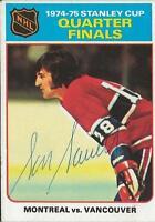 Serge Savard 1975 Topps Autograph #5 Canadiens