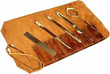 AK NAUTICAL MART Proportional Divider Set of 5 Full Brass dividers with Handmade