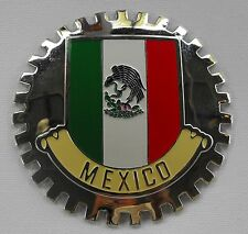 MEXICAN FLAG CAR GRILLE BADGE - EMBLEM MERCEDES FORD VOLKSWAGEN AUDI CHEVY