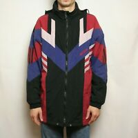 Vintage 90s Adidas Insulated Jacket Black Red Blue Size M