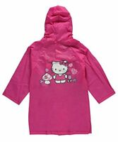 Hello Kitty Little Girls Pink Hooded Rain Coat Jacket Waterproof Youth Toddler