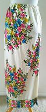 Vintage 70S 70S Mr. Dino Maxi Skirt Floral Sz M 8 10