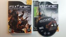 G.I. JOE: THE RISE OF COBRA WII COMPLETE CIB - FAST FREE SHIPPING !!