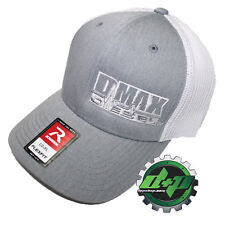Dmax Duramax truck hat richardson 110 Gray denim WHITE mesh diesel L/XL