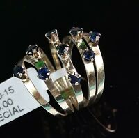 Beautiful Vintage Old 14K Yellow Gold w/ African Sapphire Lady's Wedding Ring