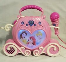 Disney Carriage Cinderella, Ariel, Mermaid Sing along Pink w/ Mic Toy