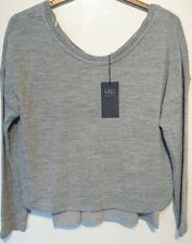 M & S Cropped Jumper with Detachable Vest Uk 20  Grey Bnwt