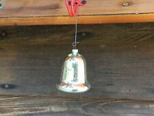 """Occupied Japan Silver Glass Bell Ornaments 2.5"""" Tall 2""""Wide Mercury Look #3"""