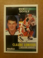 1991-92 Pinnacle - ( FRENCH VERSION) - CLAUDE Lemieux - CARD #70 - NRMNT/MINT