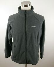 Columbia Womens Warm Fleece LS Full Zip Dark Gray Sweater Jacket Plus Size 1X