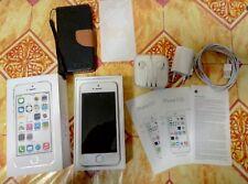 iPhone 5s 16 GB silver + scatola+caricabatteria + pellicola applicata + custodia