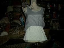 BOY MEETS GIRL Sweet Heather Gray Top Size S NWT