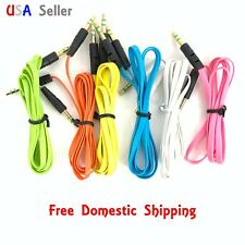 NEW 3FT 3.5mm Jack Universal Male to Male Stereo Aux Audio colorful Cable Cord