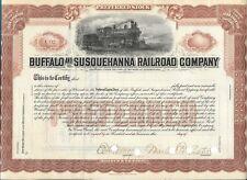 Buffalo and Susquehanna Railroad compagny certificate
