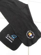 2002 SALT LAKE CITY WINTER OLYMPICS long fleece scarf with logo black Utah