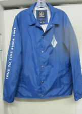 VOLCOM Lined Windbreaker Jacket 600 MM Wind Water Resistant Breathable Blue M NW