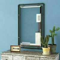 Farmhouse Mirror Industrial Rustic Piped Vintage Steampunk Style Bathroom Vanity