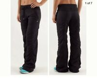Lululemon Size 6 Dance Studio Unlined Wide Leg Drawstring Yoga Pants In Black