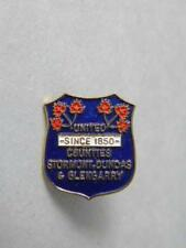 UNITED COUNTIES STORMONT DUNDAS GLENGARRY 1850 PIN VINTAGE SOUVENIR BUTTON