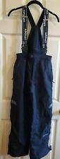 Spyder Kids Black Snow Ski Pants with Suspenders/Bib Size 16
