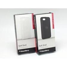 Paquete De 2 X Genuino BlackBerry Q5 Negro/Claro Acanalado Soft Shell Funda