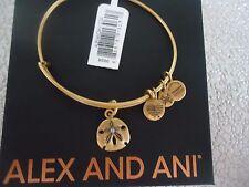 ALEX and ANI SAND DOLLAR III Rafaelian Gold Finish Bangle New W/Tag Card & Box
