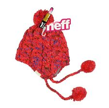 NEFF Women's Ainsley Pom Coral Beanie Hat Winter Head Wear One Size
